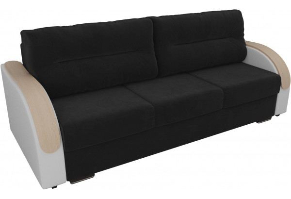 Прямой диван Дарси Черный/Белый (Велюр/Экокожа) - фото 4