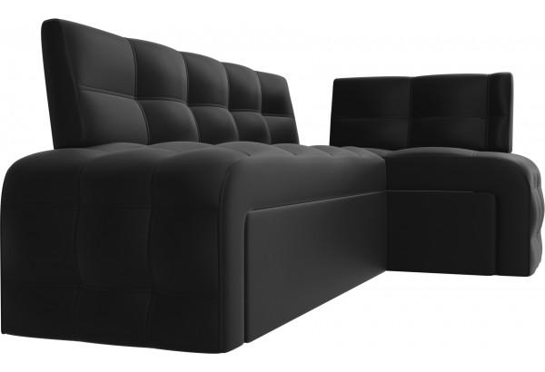 Кухонный угловой диван Люксор Черный (Экокожа) - фото 3