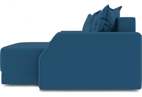 Диван угловой правый «Люксор Slim Т1» (Beauty 07 (велюр) синий) - фото 5