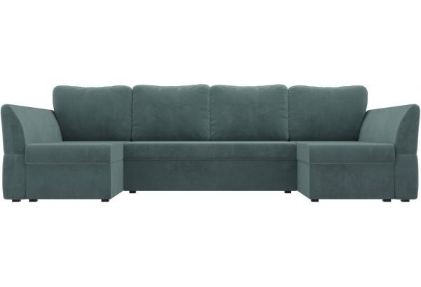 П-образный диван Гесен бирюзовый (Велюр) - фото 2