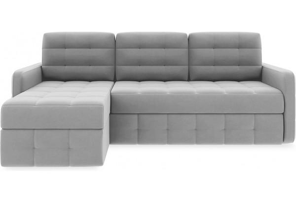 Диван угловой левый «Райс Slim Т1» (Neo 07 (рогожка) светло-серый) - фото 2