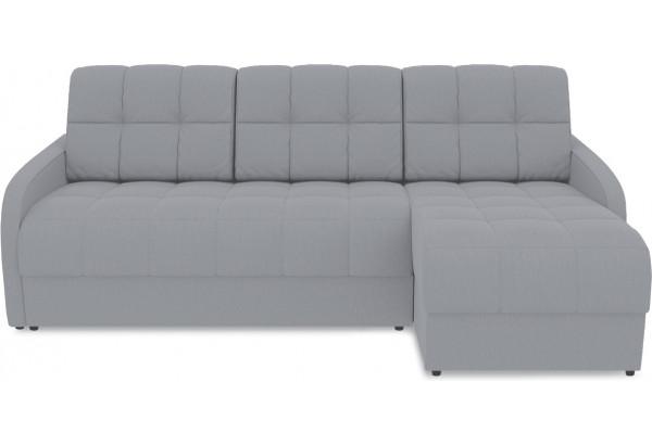 Диван угловой правый «Аспен Slim Т1» (Poseidon Grey (иск.замша) серый) - фото 2