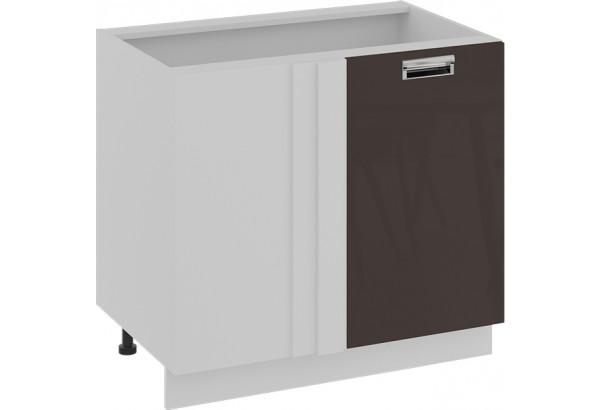 Шкаф напольный с планками для формирования угла (правый) БЬЮТИ (Грэй) - фото 1