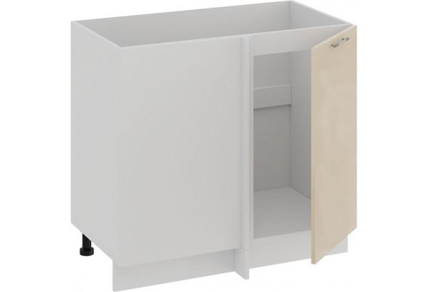 Шкаф напольный угловой «Весна» (Белый/Ваниль глянец) - фото 2