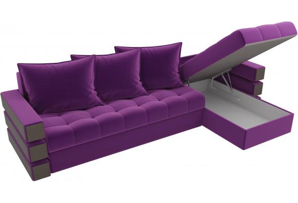Угловой диван Венеция Фиолетовый (Микровельвет) - фото 5