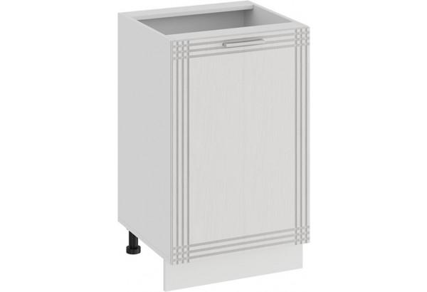 Шкаф напольный с одной дверью «Ольга» (Белый/Белый) - фото 1