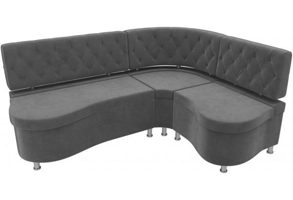 Кухонный угловой диван Вегас Серый (Велюр) - фото 4