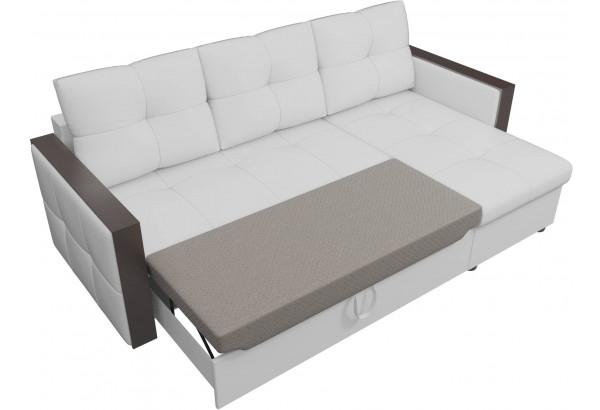 Угловой диван Валенсия Белый (Экокожа) - фото 6