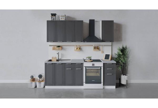 Кухонный гарнитур «Ольга» длиной 160 см (Белый/Графит) - фото 1