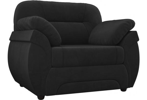 Кресло Бруклин Черный (Велюр) - фото 1