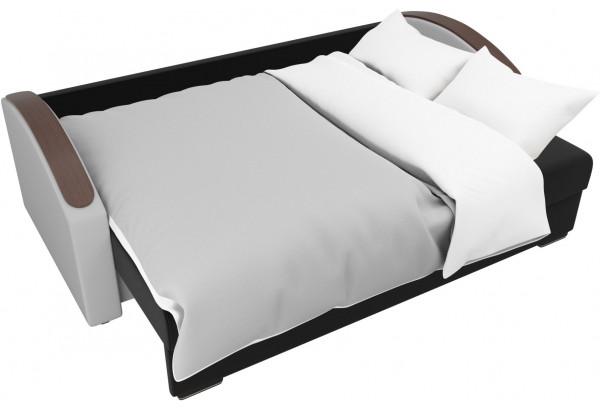 Прямой диван Монако slide Черный/Белый (Микровельвет/Экокожа) - фото 7