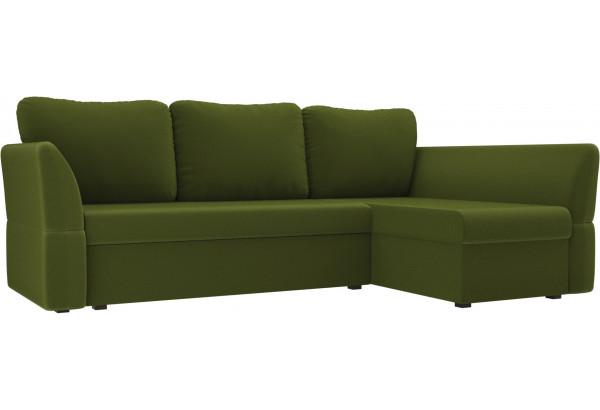 Угловой диван Гесен Зеленый (Микровельвет) - фото 1