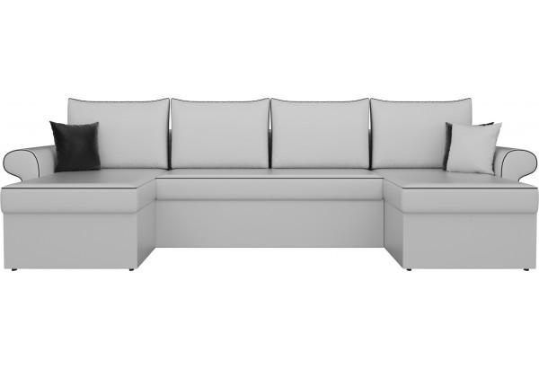 П-образный диван Милфорд Белый (Экокожа) - фото 2