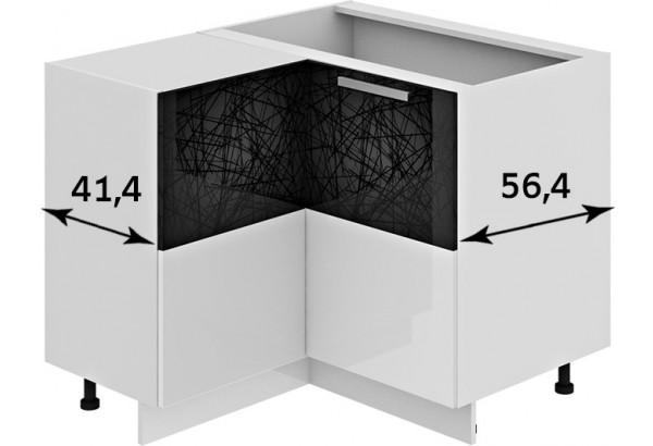 Шкаф напольный нестандартный угловой с углом 90° Фэнтези (Лайнс) - фото 2