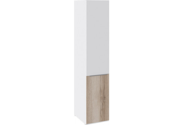 Шкаф для белья с 1 дверью «Синди» (Белый глянец/Дуб Делано) - фото 1