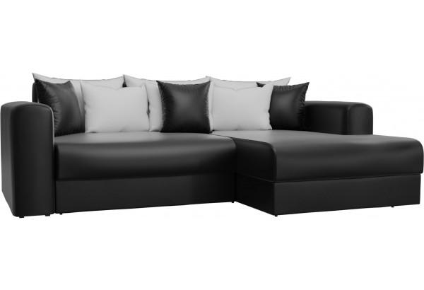 Угловой диван Мэдисон Черный (Экокожа) - фото 1