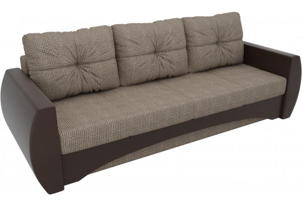 Прямой диван Сатурн коричневый/коричневый (Корфу/экокожа) - фото 4