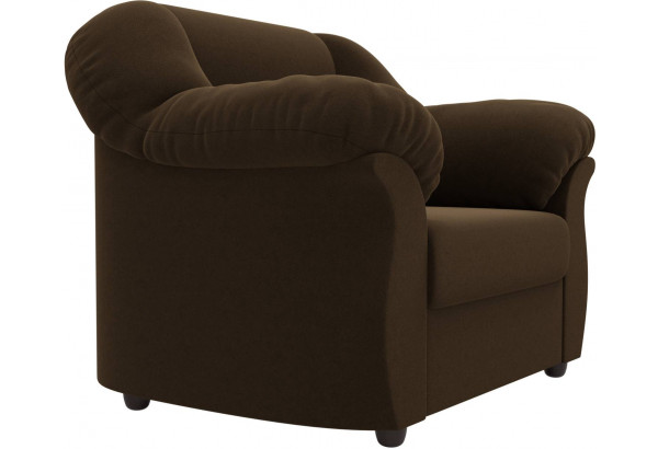 Кресло Карнелла Коричневый (Микровельвет) - фото 3