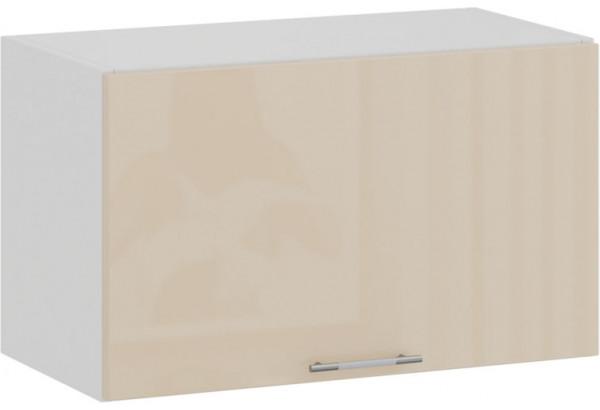 Шкаф навесной c одной откидной дверью «Весна» (Белый/Ваниль глянец) - фото 1