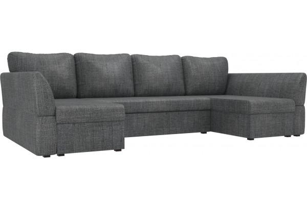 П-образный диван Гесен Серый (Рогожка) - фото 1