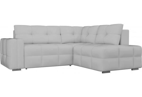 Угловой диван Леос Белый (Экокожа) - фото 1