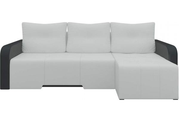 Угловой диван Манхеттен Белый/Черный (Экокожа) - фото 3