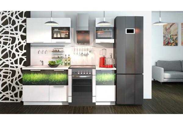 Кухонный гарнитур длиной - 210 см Фэнтези (Белый универс)/(Грасс) - фото 2