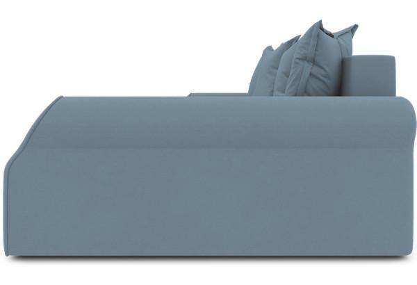 Диван угловой правый «Люксор Т2» (Poseidon Ocean (иск.замша) серо-голубой) - фото 5