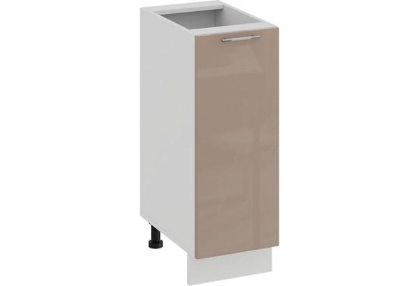 Шкаф напольный с одной дверью «Весна» (Белый/Кофе с молоком) - фото 1