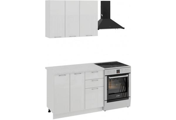 Кухонный гарнитур «Весна» стандартный набор (Белый/Белый глянец) - фото 1