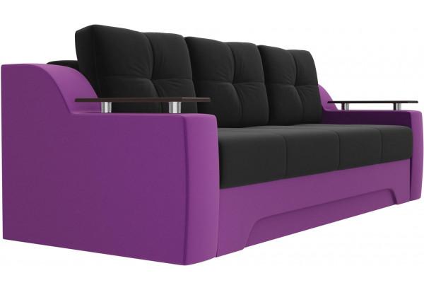 Диван прямой Сенатор черный/фиолетовый (Микровельвет) - фото 3