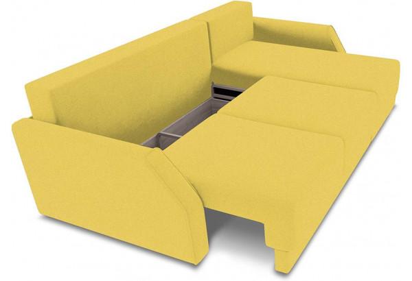 Диван угловой правый «Люксор Slim Т1» (Neo 08 (рогожка) желтый) - фото 6