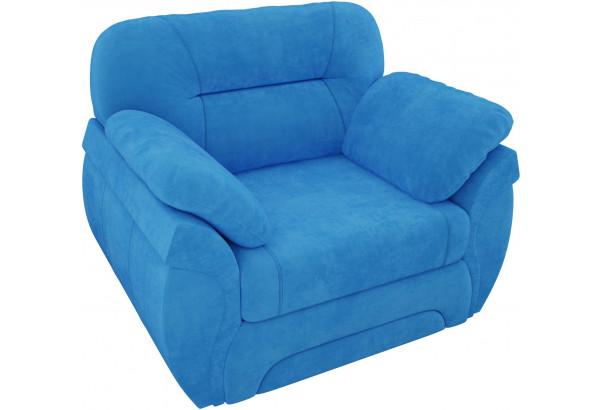Кресло Бруклин Голубой (Велюр) - фото 5