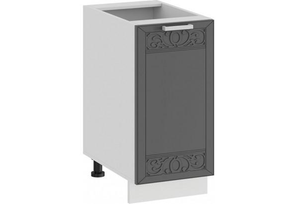 Шкаф напольный с одной дверью «Долорес» (Белый/Титан) - фото 1