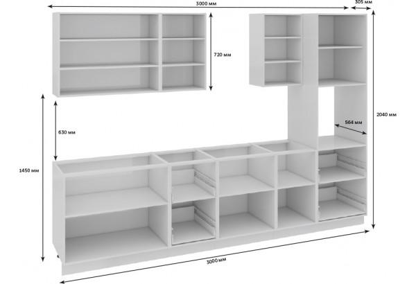 Кухонный гарнитур длиной - 300 см (с пеналом ПБ) Фэнтези (Лайнс) - фото 3