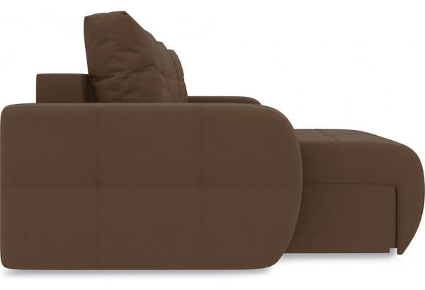 Диван угловой левый «Томас Т1» Beauty 04 (велюр) коричневый - фото 4