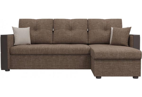 Угловой диван Валенсия Коричневый (Рогожка) - фото 2