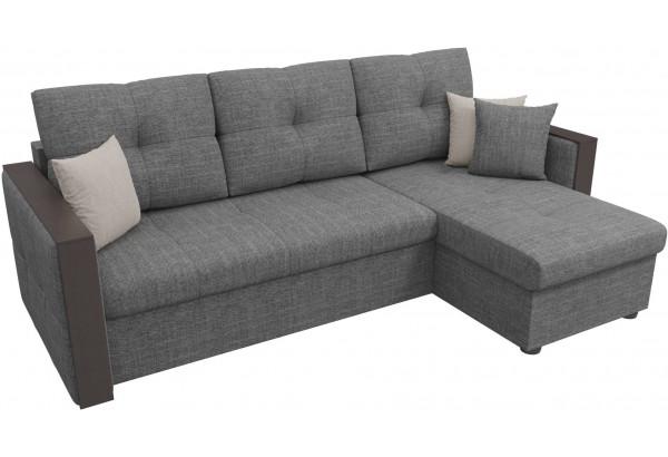 Угловой диван Валенсия Серый (Рогожка) - фото 4
