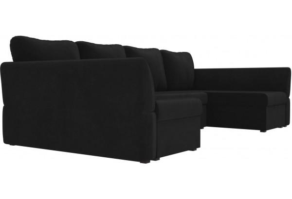 П-образный диван Гесен Черный (Велюр) - фото 3