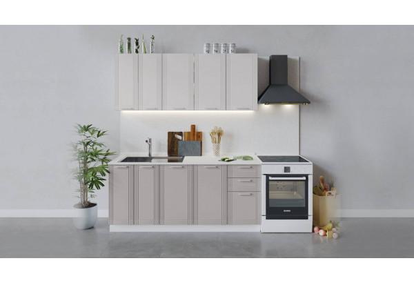 Кухонный гарнитур «Ольга» длиной 180 см (Белый/Белый/Кремовый) - фото 1