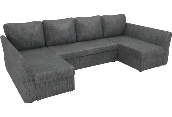 П-образный диван Гесен Серый (Рогожка) - фото 4