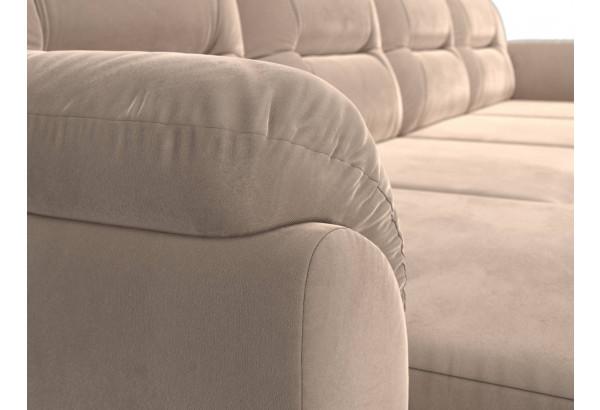 П-образный диван Бостон Бежевый (Велюр) - фото 4