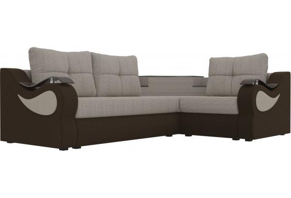 Угловой диван Митчелл Корфу 02/коричневый (Корфу/Микровельвет) - фото 3