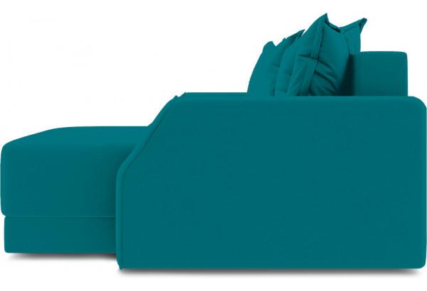 Диван угловой правый «Люксор Slim Т1» (Beauty 06 (велюр) изумрудный) - фото 5
