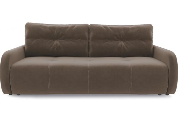 Диван «Томас Slim» Kolibri Mocco (велюр) коричневый - фото 2