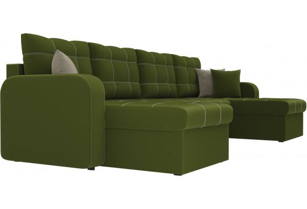 П-образный диван Ливерпуль Зеленый (Микровельвет) - фото 3
