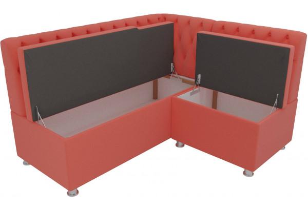 Кухонный угловой диван Мирта Коралловый (Микровельвет) - фото 5