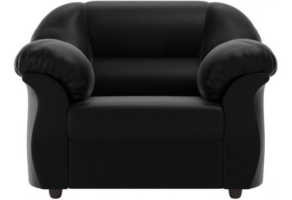 Кресло Карнелла Черный (Экокожа) - фото 2