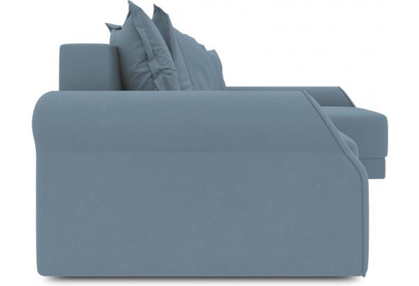 Диван угловой правый «Люксор Т2» (Poseidon Ocean (иск.замша) серо-голубой) - фото 3