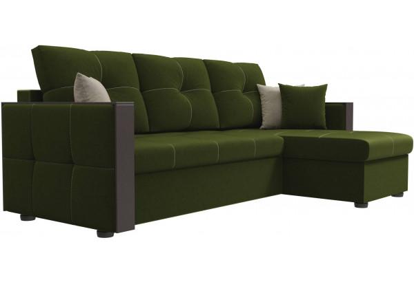 Угловой диван Валенсия Зеленый (Микровельвет) - фото 3
